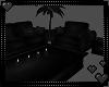 Large Black Sofa Settee