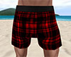 Red PJ Shorts Plaid (M)