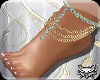 ! Bare Feet GoldBlue