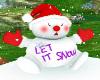 Ma's Let it snow snowman