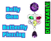 Belly Gem Butterfly