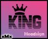 King Sign Black