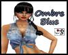 ~B~ Ombre Blue Top