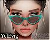 [Y] Emma teal sunglass