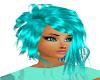 Messy Teal Hair