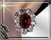 !SS Red Diamond earings