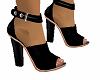 Blk Leather Heels