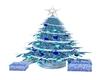 Blue & White XMas Tree