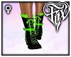 Bow Lace Boots - Green
