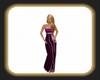 Caz violet gown