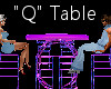 """""""Q"""" Club Table for 4"""