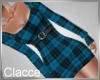 C Just plaid blue dress