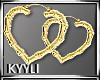 K::Gold Heart::Earrings