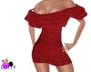 RL red velvet dress
