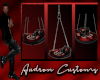 Red and black swing