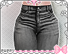☾ Gray Skinny Jeans