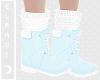 🌙. Blue Winter Boots