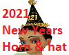 2021 New Years Horn Hat