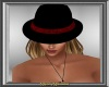 Black & Red Fedora Hat F