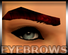 Dark Red Male Eyebrows
