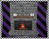 *E Cobblestone Fireplace