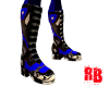 Blue Racing Boots