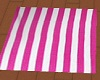 pink Striped Towel