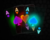 NEON ACE CARDS