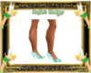 PD Green Zebra Heels