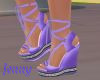 purple wedged heal shoes