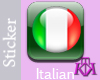 Italian Button sticker