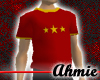 Star Baggy Tee - Red
