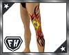 [M] Fire Tribal Tattoo L