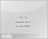 e! 10k support sticker