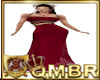 QMBR Ruby Red Bead Gown