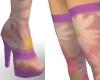 Pink Floral Heels & Hose