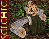 !!S Romantic log bench