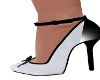 Stas-White/Black Heels