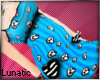 ~L* Blue Skull Dress