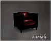 Black Red Chair