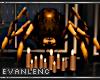 ORANGE SPIDER W CANDLES