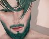 Head + beard, turquoise.
