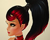 Loulou Hair Black Red