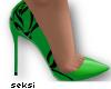 S! Rose Green Heels