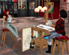 Artist with model set