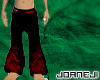 black pant withe flames