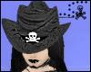 Black snake skin w/skull