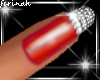 !f Red Sparkling Nails