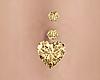 Diamond Heart Belly Ring
