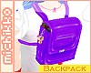 *M Purple School Bag